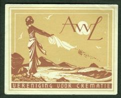"""Nederlande Holland ~1932 """" AWL Vereniging Voor Crematie"""" Vignette Cinderella Reklamemarke - Erinnophilie"""