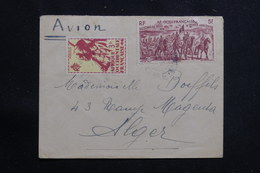 A.O.F. - Enveloppe Pour Alger Par Avion, Affranchissement Plaisant - L 61284 - Lettres & Documents