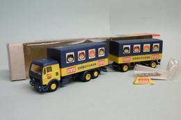 Albedo / Herpa - Camion + Remorque MERCEDES Stute Konfitüren BO HO 1/87 - Baanvoertuigen