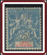 Côte D'Ivoire 1892-1912 - N° 16 (YT) N° 16 (AM) Neuf *. - Nuevos