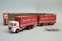 Herpa - Camion + Remorque MAN Astra Bier BO Réf. 818428 HO 1/87 - Baanvoertuigen