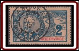 Côte D'Ivoire 1892-1912 - N° 34 (YT) N° 34 (AM) Oblitéré. - Côte-d'Ivoire (1892-1944)