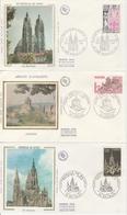 762.MONUMENTS DE FRANCE - FDC