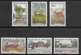 HAUTE VOLTA   -   1962 .  Y&T N°97 à 102 *.  Série Complète.   Parc Naturel  /   Animaux - Alto Volta (1958-1984)