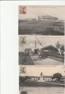 3 CPA:COCHINCHINE SAIGON PLACE DU VIEUX MARCHÉ STATUE GAMBETTA,NOUVELLES CASERNES ARTILLERIE COLONIALE,VOITURES PONT - Viêt-Nam
