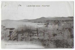 Cpa Bon Etat ,  île Rousse , Place Paoli , Timbre Courrier Au Verso , Carte Rare - Otros Municipios