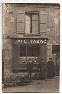 AISNE FACADE CAFE TABAC CARTE PHOTO ANIMEE PHOTO GAUTREAU A SEPTMONTS - Francia