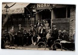 AISNE ?? FACADE CAFE DU NORD CARTE PHOTO TRES ANIMEE - Francia