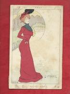 CPA -  L'Orgeuil   - Illustrateurs , Illustrateur  Lucien Robert  -  ( Femme ) - Robert