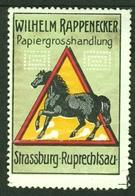 """Strassburg Elsaß Strasbourg Alsace Ruprechtsau ~1910 """" Papier Wilhelm Rappenecker """" Vignette Cinderella Reklamemarke - Cinderellas"""