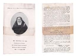 Mère Marie-Thérèse Des Anges, Fondatrice Et Prieure Du Carmel De Nogent-sur-Marne, Morte En Odeur De Sainteté 21/03/1930 - Images Religieuses