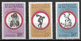 HAUTE VOLTA   -  1963    .Y&T N°110 à 112 *.  BASKET  /  LUTTE .  Série Complète. - Alto Volta (1958-1984)