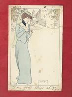 CPA  Abîmée  -  L'Avarice    - Illustrateurs , Illustrateur  Lucien Robert  -  ( Femme  ) - Robert