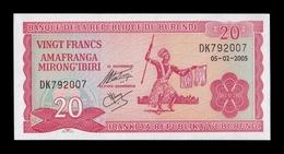 Burundi 20 Francs 2005 Pick 27d SC UNC - Burundi