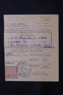 MAROC - Récépissé De Kasba Tadla Pour La France D'un Envoi Recommandé Ou En Valeurs Déclarées En 1957 - L 61292 - Marokko (1956-...)