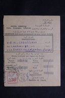 MAROC - Récépissé De Kasba Tadla Pour La France D'un Envoi Recommandé Ou En Valeurs Déclarées En 1957 - L 61293 - Marokko (1956-...)