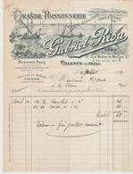 DROME: Gabriel RIOU Gde Poissonnerie, R. Madier De Montjau à Valence / Fact. De 1903 Pour La Ferme - Food