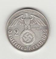 2 REICHSMARKS ARGENT 1938 BERLIN - [ 4] 1933-1945 : Troisième Reich