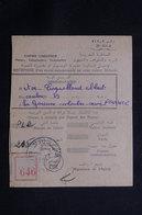 MAROC - Récépissé De Kasba Tadla Pour La France D'un Envoi Recommandé Ou En Valeurs Déclarées En 1957 - L 61294 - Marokko (1956-...)
