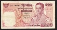 THAILAND  P85b 100  BAHT 1969  #82K   Signature 42 FINE/Better - Thailand