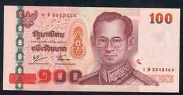 THAILAND P114b 100 BAHT 2005  #1B Signature 76 VF Few  Folds - Thailand