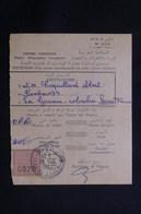 MAROC - Récépissé De Kasba Tadla Pour La France D'un Envoi Recommandé Ou En Valeurs Déclarées En 1957 - L 61296 - Marokko (1956-...)