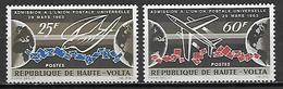 HAUTE VOLTA   -   1964  . Y&T N°133 à 134 *.    UPU  /  Avion - Alto Volta (1958-1984)