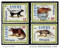 (345) Ethiopia / Ethiopie  Animals / Animaux / Tiere / Dieren / 1993   ** / Mnh  Michel 1431-34 - Etiopía