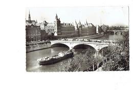 Cpm - 75 - PARIS - Pont Du Change Palais Justice - Sainte Chapelle - 537 Cim - 1963 - Bateau Péniche Autobus Camion - Houseboats