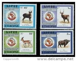 (381) Ethiopia / Ethiopie  PAPU / Animals / Tiere / Dieren / 1998  ** / Mnh  Michel 1603-06 - Etiopía