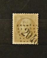05 - 20 // France N° 21 - Oblitération GC 2040 - Ligardes - Gers - Indice 17 - 1862 Napoléon III.
