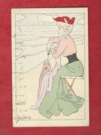 CPA   -  La Vue  - Illustrateurs , Illustrateur  Lucien Robert  -  ( Femme  ) - Robert