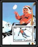 Fujeira - 1553/ N°136 B Jeux Olympiques (olympic Games) INNSBRUCK ** MNH Non Dentelé ** (imperforate) - Winter 1976: Innsbruck