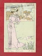 CPA   -  La Colère  - Illustrateurs , Illustrateur  Lucien Robert  -  ( Femme  ) - Robert