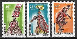 HAUTE VOLTA   -1966    .Y&T N°156 à 158 *.   Festival Des Arts Nègres. .série Complète - Alto Volta (1958-1984)