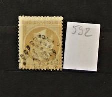 05 - 20 // France N° 21 - Oblitération GC 592 - Boynes - Loiret - Indice 7 - 1862 Napoleon III