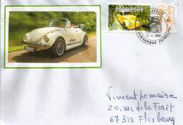 FRANCE, Voiture  VW Coccinelle, Sur Lettre De Dunkerque - Automobili