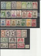 VIETNAM DU NORD LOT DE 32 TIMBRES DIFFERENTS 1945 1946 - Indochina (1889-1945)