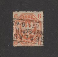 ALLEMAGNE . PRUSSE  --  16 De 1861-65 -  Oblitéré  -  6.p . Orange  - 2 Scannes - Preussen
