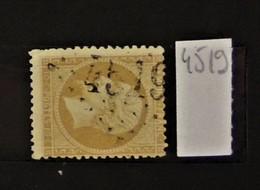 05 - 20 // France N° 21 - Oblitération GC 4519 - Trebes - Aude  Indice 7 - 1862 Napoleon III