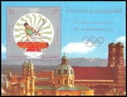 200 - Fujeira MNH ** Mi Bloc N° 53 B Non Dentelé (imperforate) Jeux Olympiques Olympic Games MUNICH 72 Pommel Horse - Fudschaira