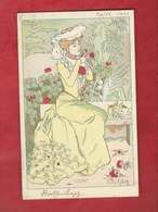 CPA   -  L'Odorat    - Illustrateurs , Illustrateur  Lucien Robert  -  ( Femme    ) - Robert