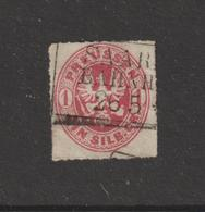 ALLEMAGNE . PRUSSE  --  17 De 1861-65 -  Oblitéré  -  1.s . Rose  - 2 Scannes - Preussen