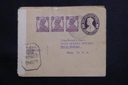 INDE - Entier Postal + Compléments Pour Les Etats Unis Avec Contrôle Postal - L 61304 - 1911-35  George V