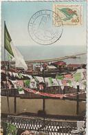 Carte-Maximum ALGERIE N° Yvert 369 (DRAPEAU) Obl Sp Ill 1er Jour - Algerien (1962-...)