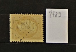 05 - 20 // France N° 21 - Oblitération GC 2789 - Parigne L'éveque - Sarthe- Indice 12 - 1862 Napoléon III.
