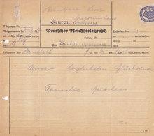 TELEGRAMM - DEUTSCHER REICHSTELEGRAPH - Von 1927 - Aus  BEURON  Württ. -  Feine ERHALTUNG - Ohne Zuordnung