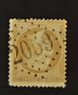 05 - 20 // France N° 21 - Oblitération GC 2059 - Livernon -  Lot - Indice 8 - 1862 Napoleon III