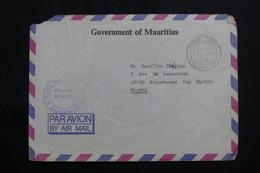 MAURICE - Enveloppe Du Gouvernement En Franchise Postale Pour La France En 1988 - L 61306 - Mauritius (1968-...)