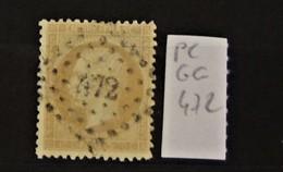 05 - 20 // France N° 21 - Oblitération PC Des GC 472 - Bezier - Herault - 1862 Napoléon III.